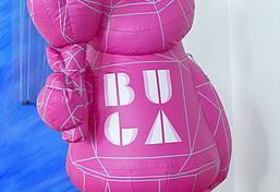 Das BUGA-Maskottchen Karl war beim Jubiläumsauftakt dabei.