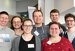 Die Kolpingjugend ist dabei: Markus Halder, Jakob Ott, Manuela Götz, Holger Heimpel, Miriam Gärtner, Timo Werner und Jakob Maucher (von links).